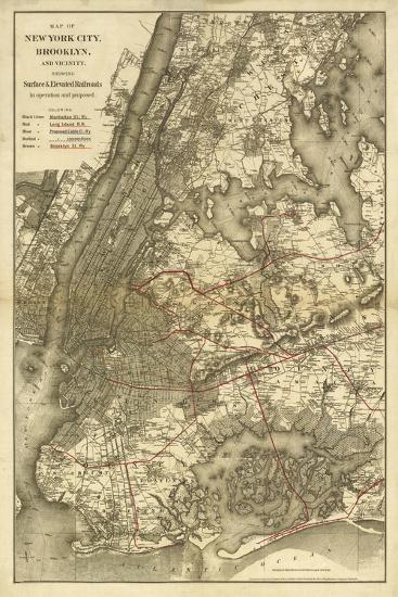 1885 NYC Map-N^ Harbick-Art Print