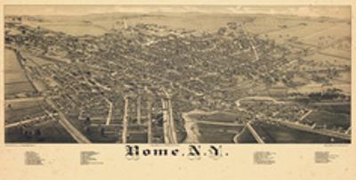 1886, Rome 1886 Bird's Eye View, New York, United States