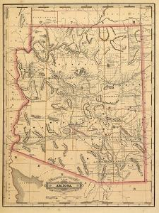 Beautiful Maps of Arizona artwork for sale, Posters and Prints | Art.com