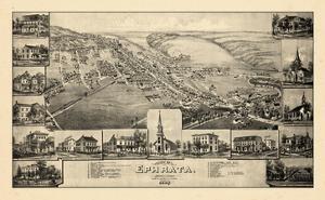 1887, Ephrata Bird's Eye View, Pennsylvania, United States