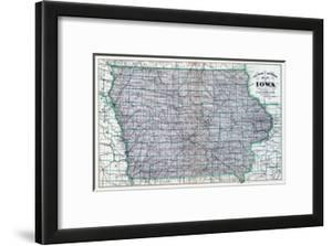 Beautiful Maps of Iowa framed-posters artwork for sale, Prints and
