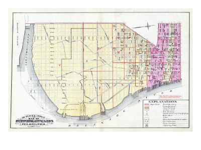1887, Philadelphia Wards 1, 2, 3, 4, Pennsylvania, United States--Giclee Print