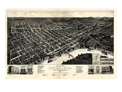 1887, Selma Bird's Eye View, Alabama, United States--Giclee Print
