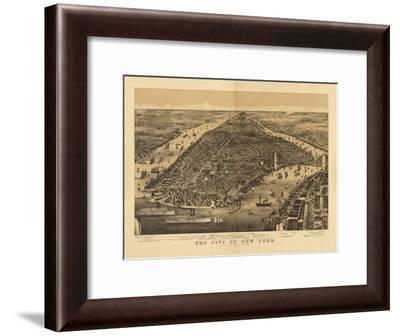 1889 NYC Map-N. Harbick-Framed Art Print