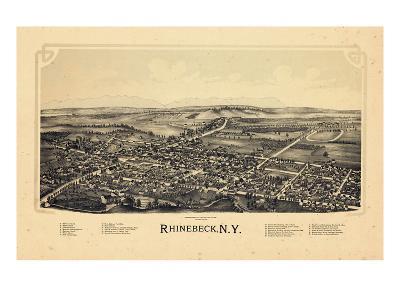 1890, Rhinebeck 1890 Bird's Eye View, New York, United States--Giclee Print