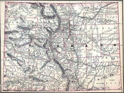 Colorado Map Art.Beautiful Maps Of Colorado Artwork For Sale Posters And Prints