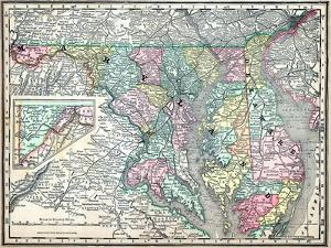 Beautiful Maps of Delaware artwork for sale, Posters and ...