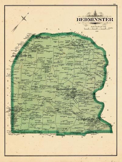 1891, Bedminster, Pipersville, Dublin, Hagersville, Kellersville, Ridge, Pennsylvania--Giclee Print