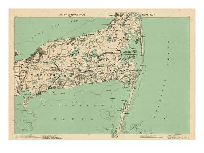 1891, Cape Cod, Barnstable, Orleans, Brewster, Harwich, Chatham, Dennis, Yarmouth, Massachusetts--Giclee Print