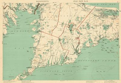 1891, Cape Cod, Plymouth, Barnstable, Falmouth, Mashpee, Bourne, Marion, Massachusetts, USA