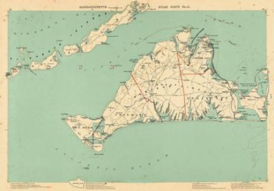 1891, Dukes, Martha's Vinyard, Gay Head, Chilmark, Tisbury, Edgartown, Cottage City, Massachusetts