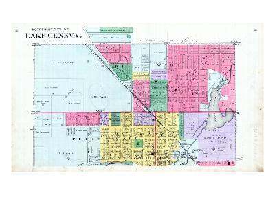 1891, Lake Geneva City - North, Wisconsin, United States--Giclee Print