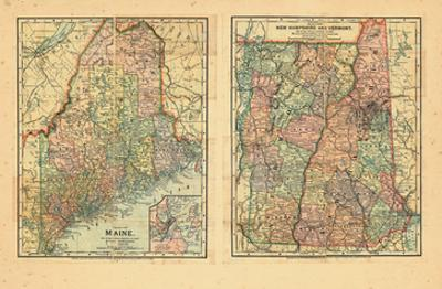1891, Maine, New Hampshire, Vermont