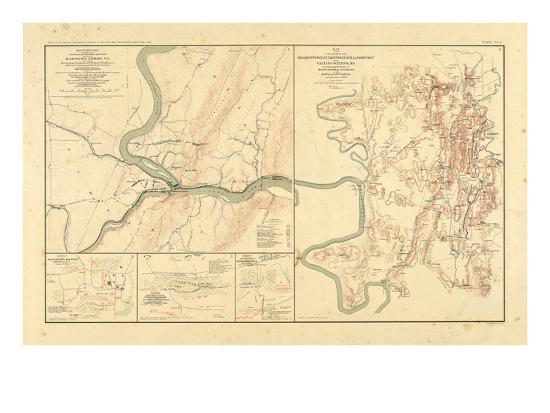 1891, Maryland, Virginia, Civil War--Giclee Print