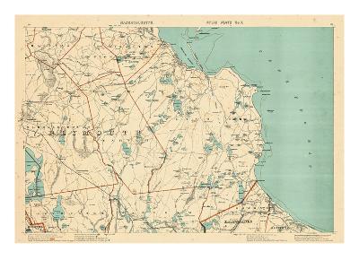 1891, Plymouth, Barstable, Halifax, Kingston, Sandwich, Acushnet, Massachusetts, United States--Giclee Print