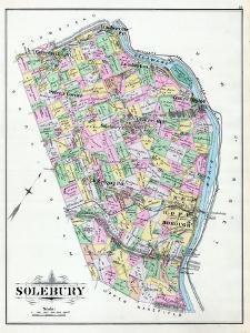 1891, Solebury,New Hope, Aguetong, Centre Mill, Lumberton, Carversville, Peter's Corner,Pensylvania