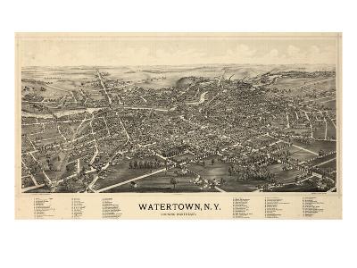 1891, Watertown 1891 Bird's Eye View, New York, United States--Giclee Print