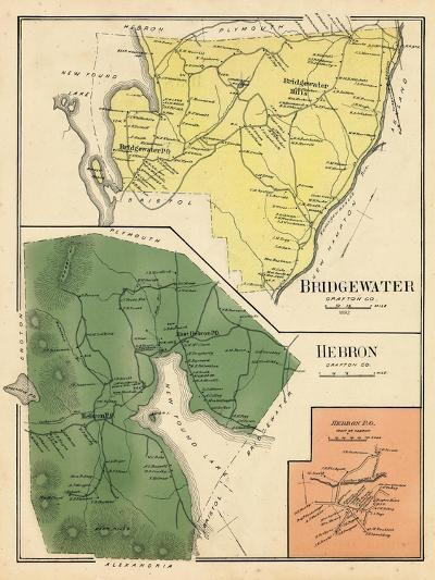 1892, Bridgewater, Hebron, Bristol Town, New Hampshire, United States--Giclee Print