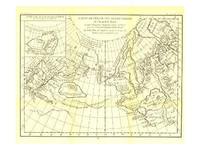1892 Carte Generale Des Decouvertes De Lamiral De Fonte Map-National Geographic Maps-Art Print
