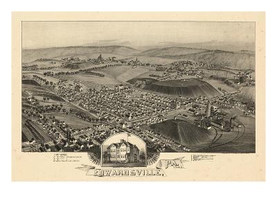 1892, Edwardsville Bird's Eye View, Pennsylvania, United States--Giclee Print