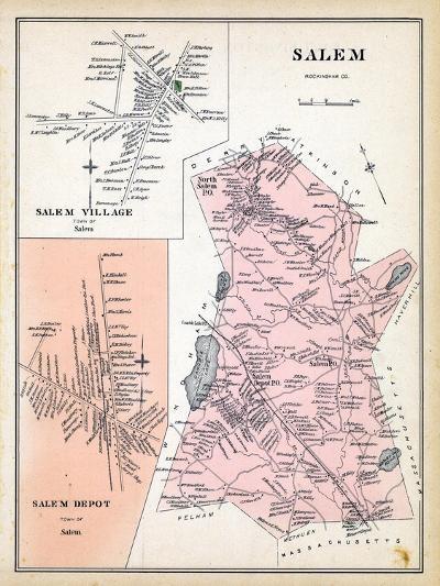 1892, Salem, Salem Village, Salem Depot, New Hampshire, United States--Giclee Print