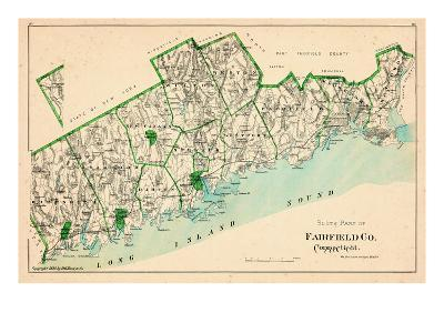 1893, Fairfield County - South Part, Connecticut, United States--Giclee Print