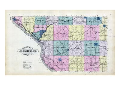 1893, Jo Daviess County Map, Illinois, United States--Giclee Print