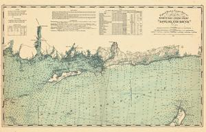 1893, United States Coast Survey - Niantic Bay to Rocky Point - Long Island Sound, Connecticut, Uni