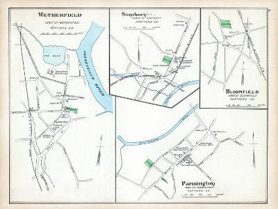 1893, Wetherfield, Simsbury, Bloomfield, Farmington, Connecticut, United States--Giclee Print
