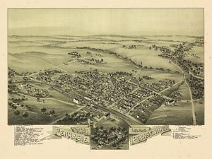 1894, Perkasie Bird's Eye View, Pennsylvania, United States