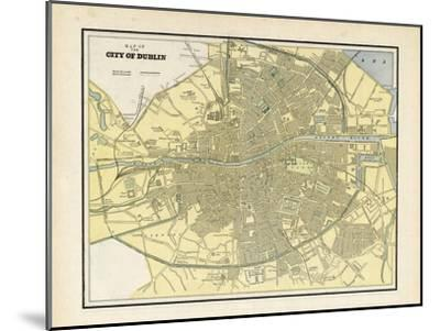 24x36 1797 Dublin Ireland Vintage Style City Plan Map