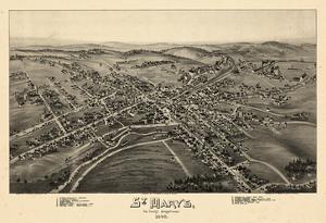 1895, St Mary's Bird's Eye View, Pennsylvania, United States