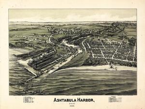 1896, Ashtabula Harbor Bird's Eye View, Ohio, United States