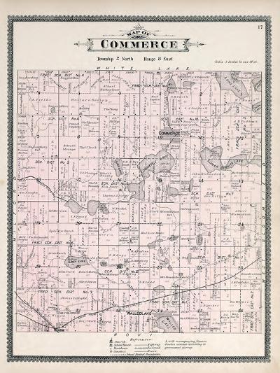1896, Commerce Township, Loon Lake, Union Lake, Huron River, Walled Lake, Wixom, Michigan, United S--Giclee Print