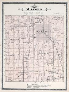 1896, Milford Township, Lake Sears, Huron River, Kent Lake, Michigan, United States