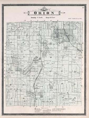1896, Orion Township, Voorheis Lake, Mahopac, Cole, Lake Judah, Mud Lake, Mill Lake, Michigan, Unit