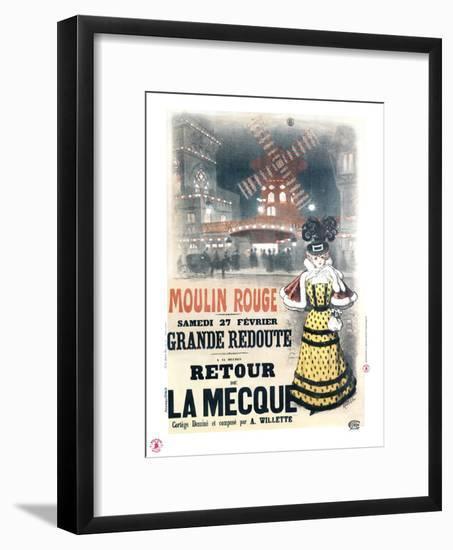 1897 Moulin Rouge  retour à la Mecque- Roedel-Framed Giclee Print