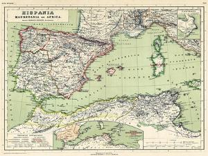 1898, 500 BC, Algeria, Libya, Morocco, Tunisia, France, Portugal, Spain, Hispania, Africa