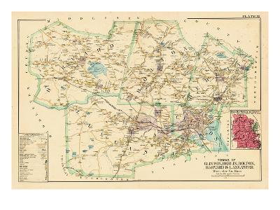 1898, Clinton - Berlin - Bolton - Harvard - Lancaster Towns, Massachusetts, United States--Giclee Print