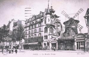1898 Façade du Moulin Rouge.
