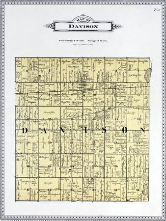 1899, Davison Township, Kearsley Creek, Black Creek, Potters Lake, Michigan, United States--Giclee Print