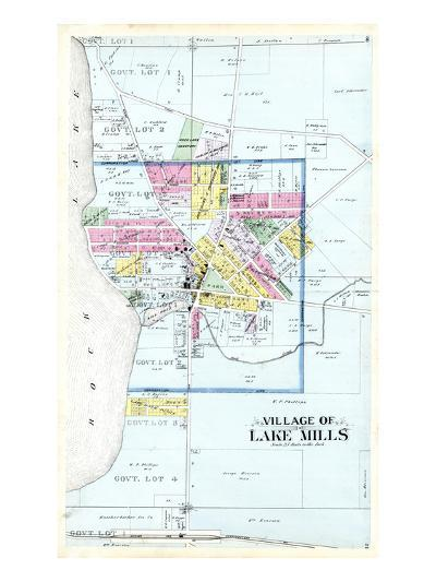 1899, Lake Mills Village, Wisconsin, United States--Giclee Print