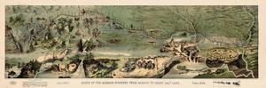 1899, Route of the Mormon Pioneers from Nauvoo to Great Salt Lake in 1846 Drawn in 1899, Utah, Uni