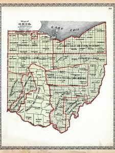 1899, State Map - Government Surveys, Ohio, United States