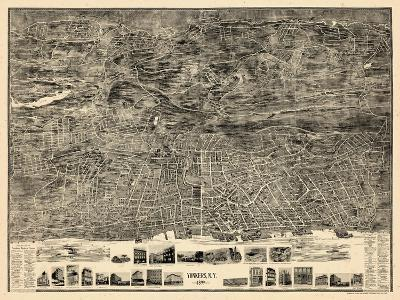 1899, Yonkers 1899 Bird's Eye View 36x47, New York, United States--Giclee Print