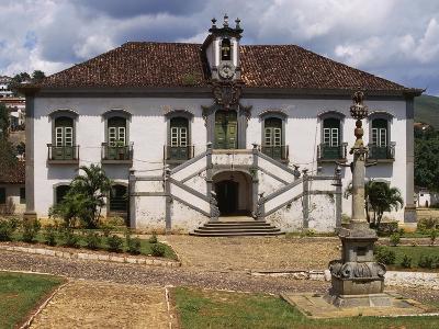 18th Century Facade with Double Staircase of Casa Da Camara and Barracks in Mariana--Giclee Print