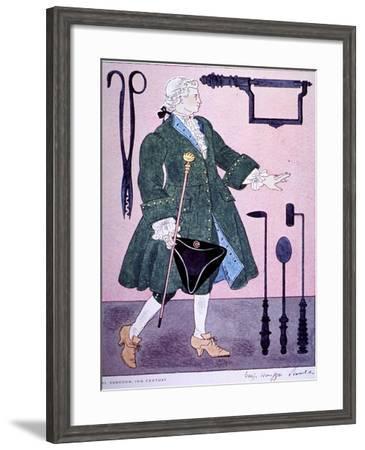 18Th Century Surgeon's Costume-Warja Honegger-Lavater-Framed Art Print