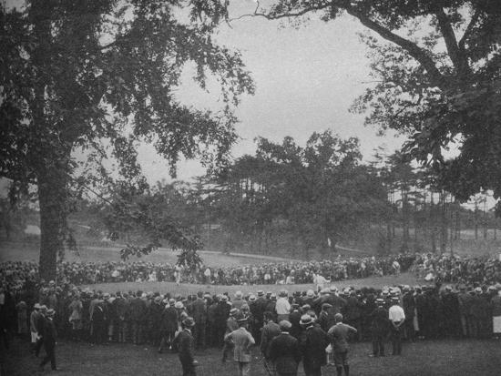 18th green, The Country Club, Brookline, Massachusetts, 1925--Photographic Print