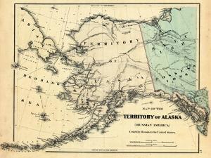 18xx, Alaska Territory Map, Alaska, United States