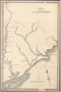 18xx, West Florida Apalachicola River Region - Version 2 with James Island, Florida, United St
